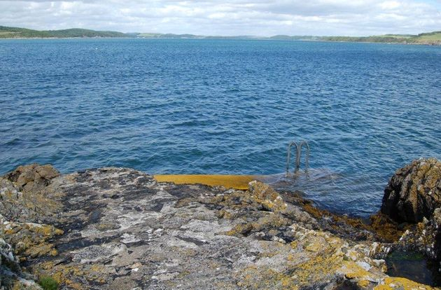 The island is located just off Meikle Ross headland on the