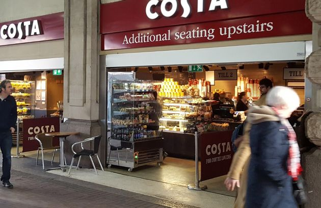 Staff at Costa Coffee in Waterloo station have been recorded refusing to serve a Good