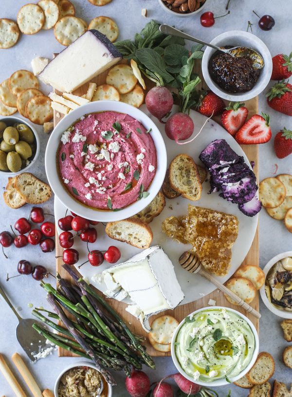 """<strong>Get the <a href=""""http://www.howsweeteats.com/2017/05/late-spring-cheese-board-beet-whipped-feta/"""" target=""""_blank"""">Che"""