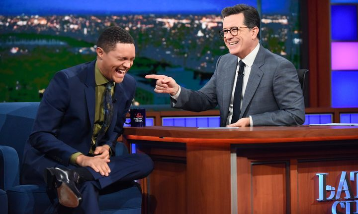 "Trevor Noah on ""The Late Show with Stephen Colbert"" in June."