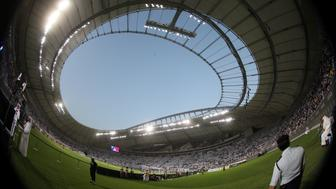 The Khalifa International Stadium is seen during the final soccer match of the Qatar Emir Cup, in Doha, Qatar May 19, 2017. Picture taken with a fisheye lens on May 19, 2017. REUTERS/Ibraheem Al Omari