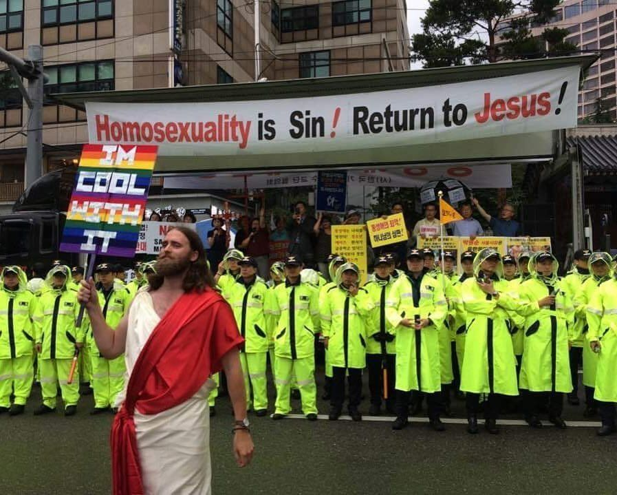 A Beautiful Thing Happened When 'Jesus' Faced Off With Pride