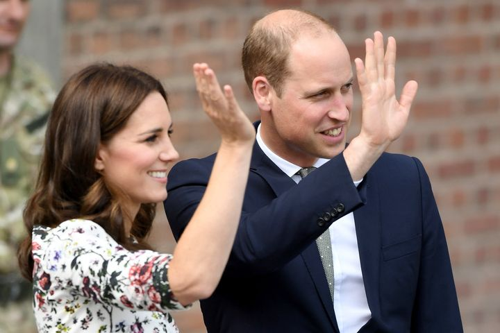 The royal wave in action.