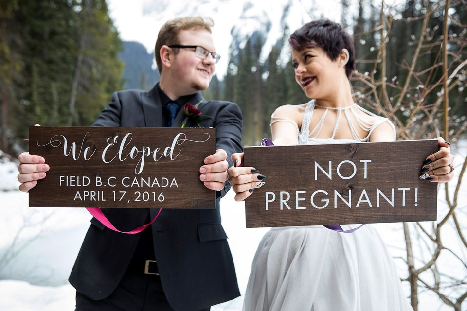 19 creative elopement announcements you ll want to copy huffpost life