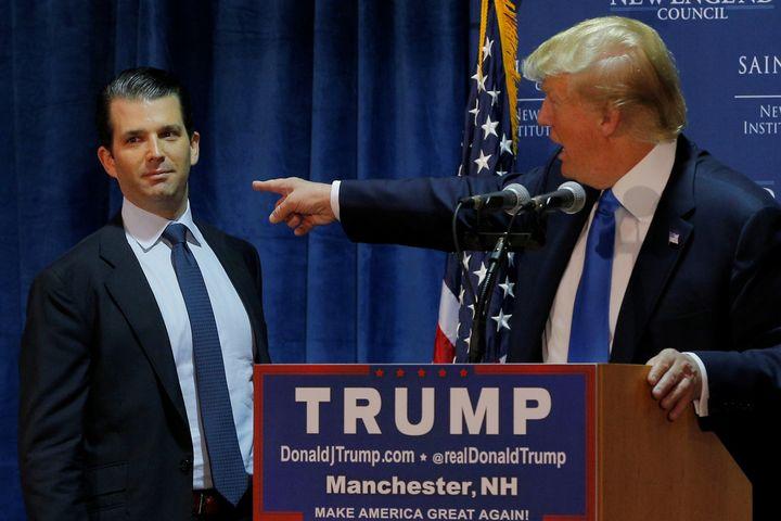 Donald Trump Jr. and President Donald Trump.