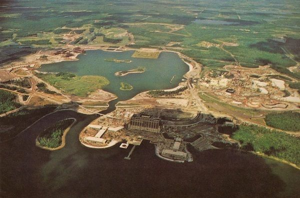 The Walt Disney World Resort under construction