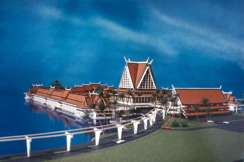 Model of proposed Asian Resort