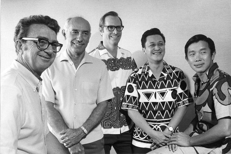 "L to R: WWATG Founders – George J. ""Pete"" Wimberly, George Whisenand, Jerry Allison, Greg Tong, Don Goo"