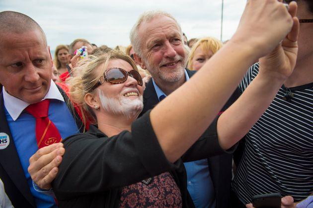 Jeremy Corbyn mobbed by wellwishers in