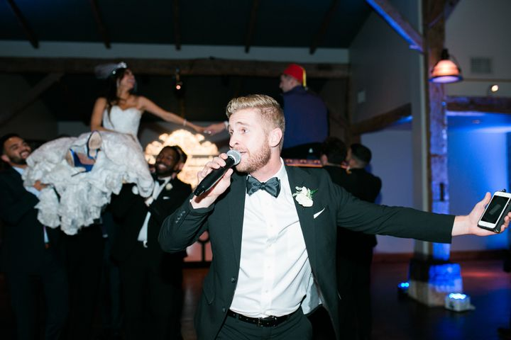 John, the groom's brother, slayed his Disney toast.