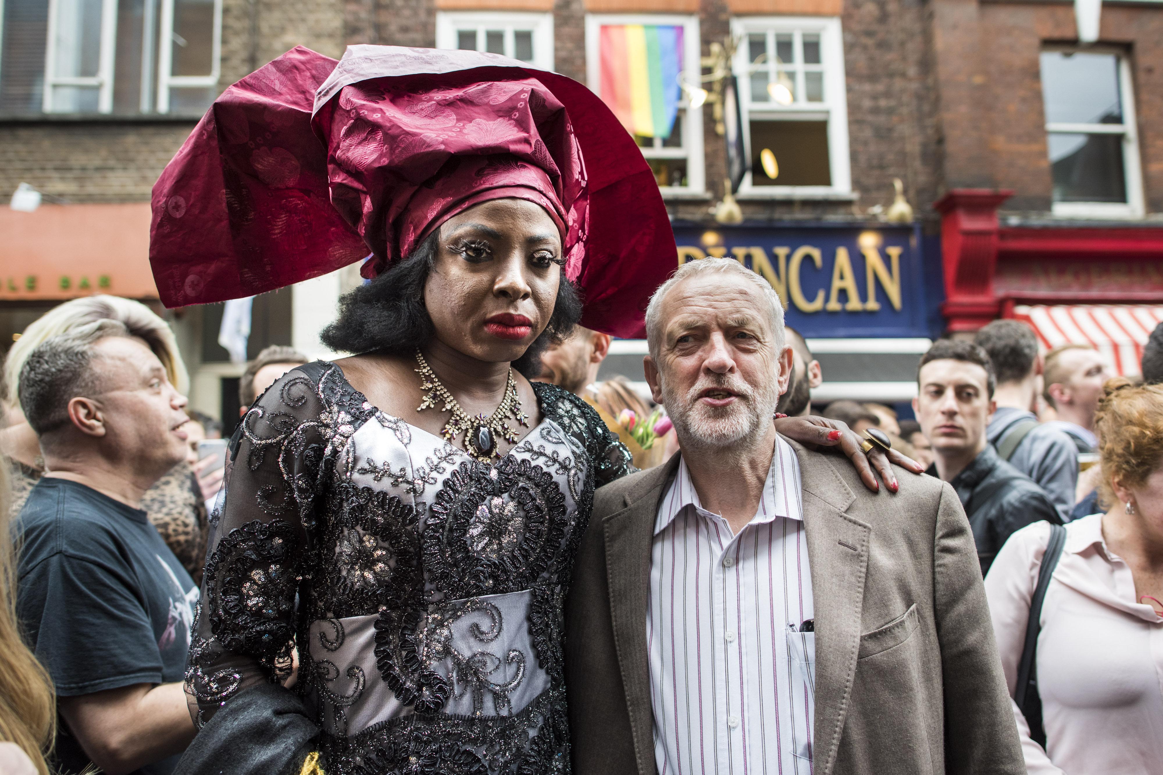 Labour leader Jeremy Corbyn joined members of London's LGBTI community, when they helda vigil in...