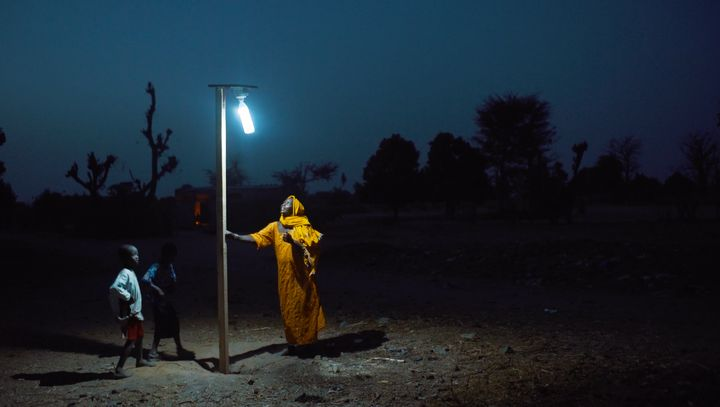 A solar-powered street lamp from Liter of Light