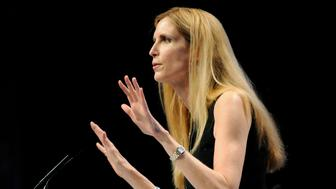 Commentator Ann Coulter speaks to the Conservative Political Action conference (CPAC) in Washington, February 12, 2011. REUTERS/Jonathan Ernst  (UNITED STATES - Tags: POLITICS ENTERTAINMENT)
