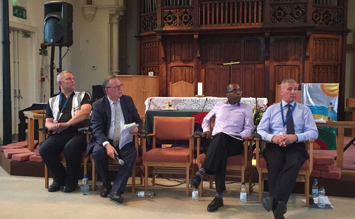 The panel included representatives from the police, council and public health.