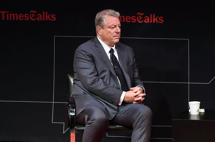 Former Vice President Al Gore speaksat aTimesTalks event inTribeca in New York on Tuesday.