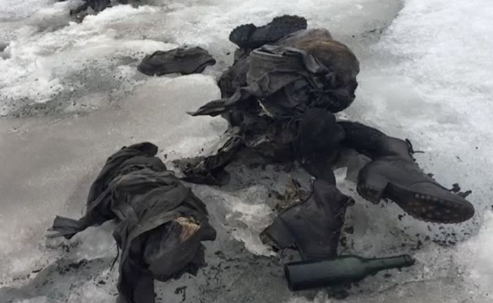 The couple's bodies were perfectly preserved
