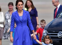 The Duchess Of Cambridge Opts For An Entire Royal Blue Outfit As She Heads To Germany