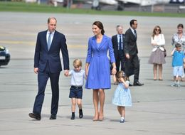 Prince George And Princess Charlotte Match The Duke And Duchess In Blue As They Leave Poland