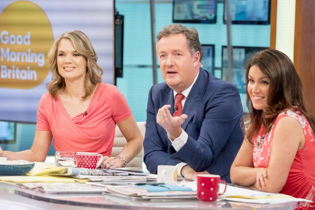Piers with co-hosts Susanna Reid and Charlotte
