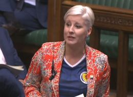 MP Wears Scotland Football Shirt In House Of Commons To Support Women's Euro Match