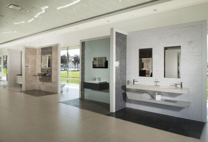 <em>Interior showroom of Porcelanosa in San Jose</em>