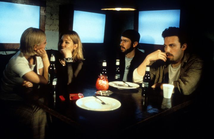 "Ben Affleck, Jason Lee and Joey Lauren Adams  in ""Chasing Amy."""