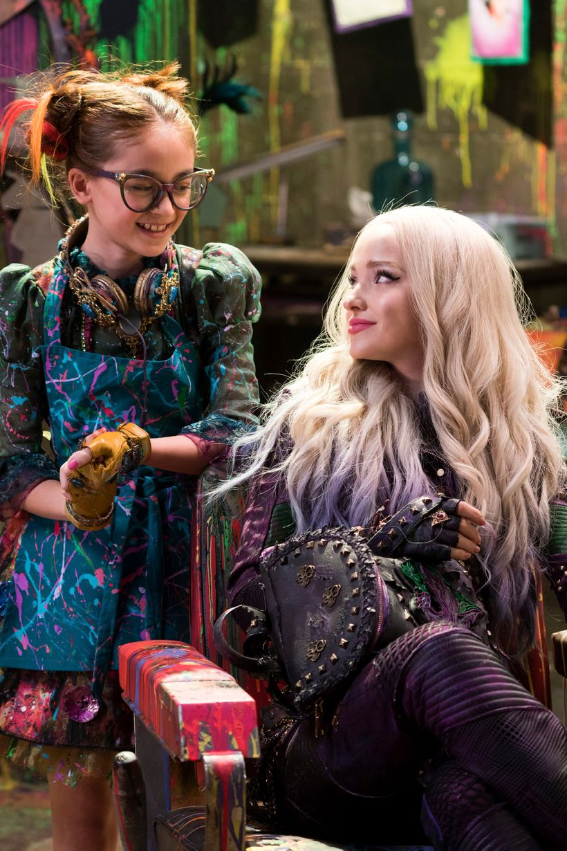 Anna Cathcart, left,  with Dove Cameron. Hard to take your eyes off Anna.