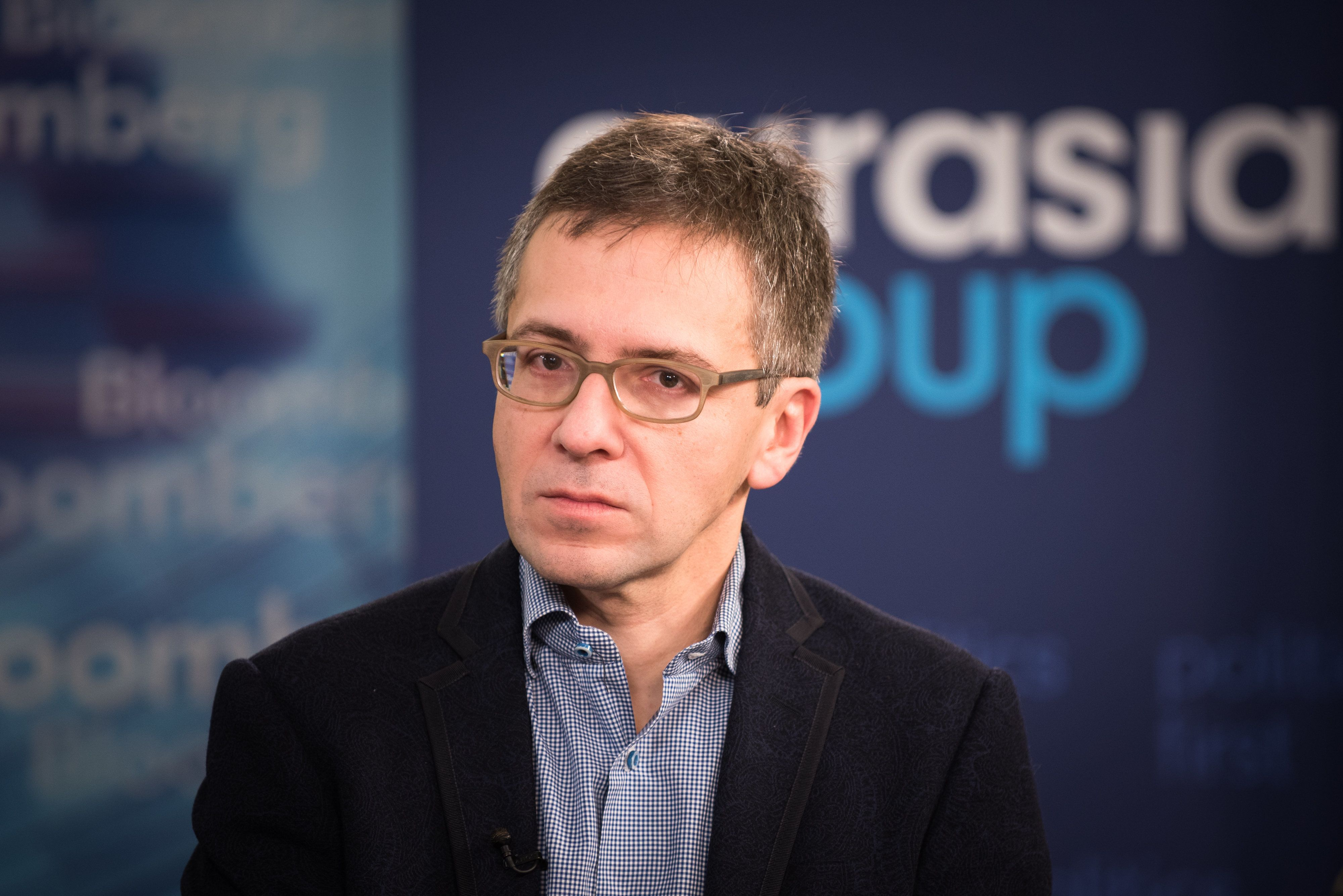 Ian Bremmer, president and founder of Eurasia Group Ltd., listens during a Bloomberg Television interview at the company's office in New York, U.S., on Tuesday, Jan. 3, 2017. Bremmer discussed the need for increased investment by corporate America to spur U.S. Economic growth. Photographer: kholood Eid/Bloomberg via Getty Images