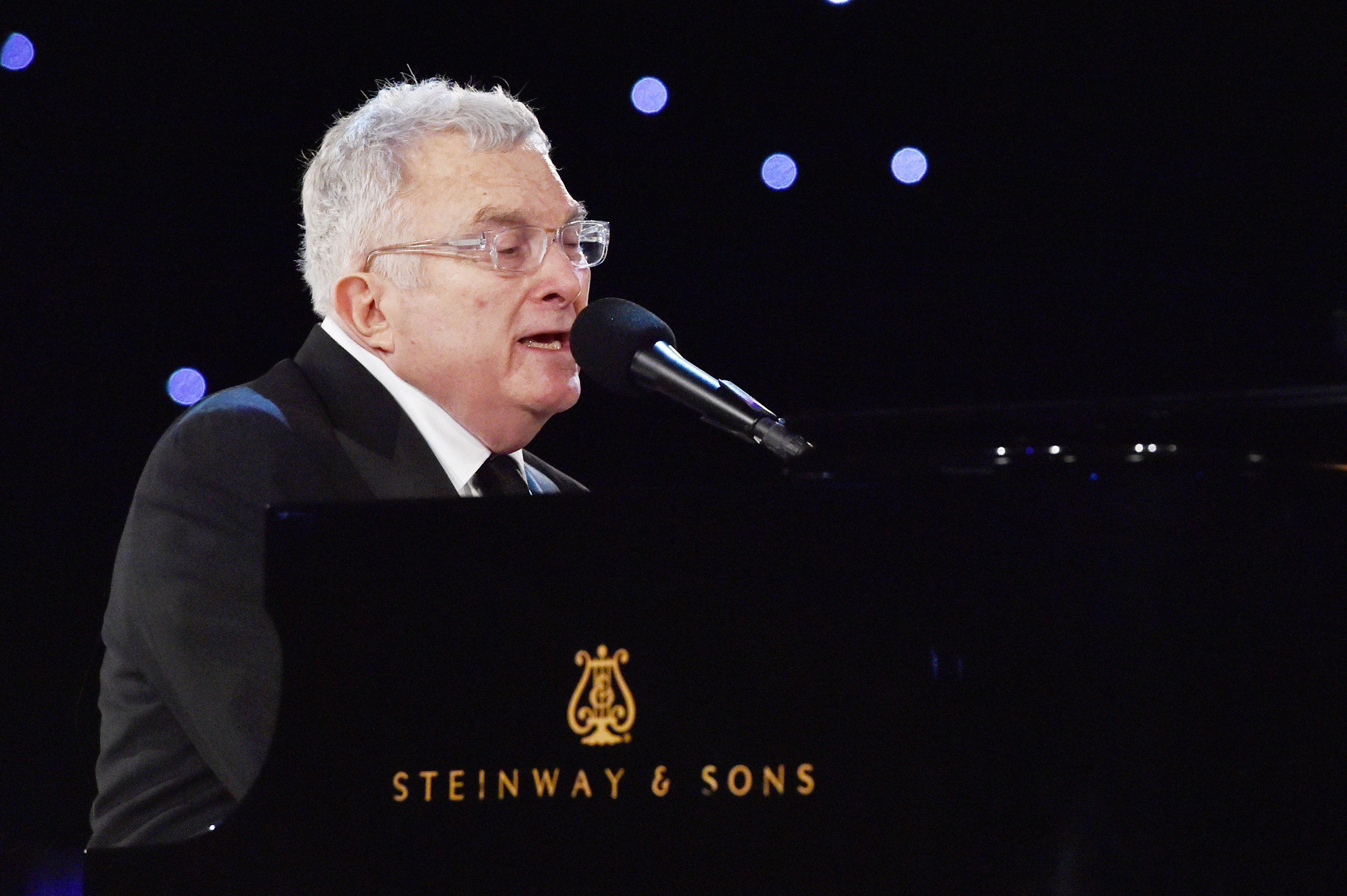 LOS ANGELES, CA - FEBRUARY 10: Musician Randy Newman performs onstage during MusiCares Person of the Year honoring Tom Petty at the Los Angeles Convention Center on February 10, 2017 in Los Angeles, California.  (Photo by Lester Cohen/WireImage)
