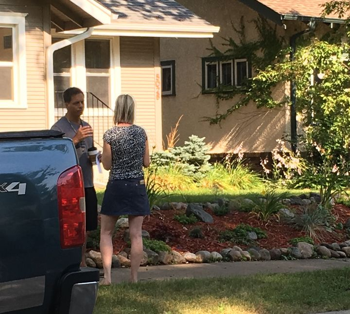 Don Damond spoke to neighbors and family members near his home on Wednesday.