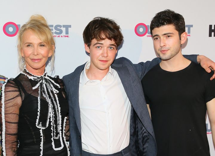 "From left, Styler and stars Alex Lawther and Ian Nelson. ""There's an ancient soul there – a philosopher of"