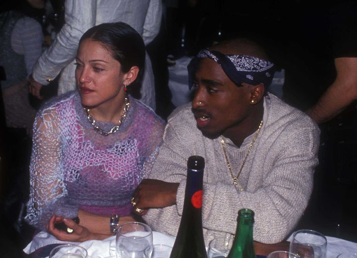 Madonna and Tupac Shakur in 1994.