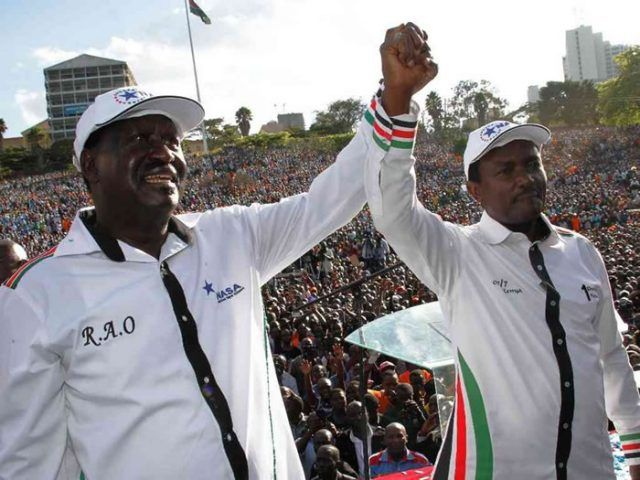 Image result for Raila and Kalonzo