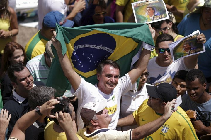"Congressman Jair Bolsonaro, who has been described as ""Brazil's Donald Trump,"" is among the candidates who could benefit if f"
