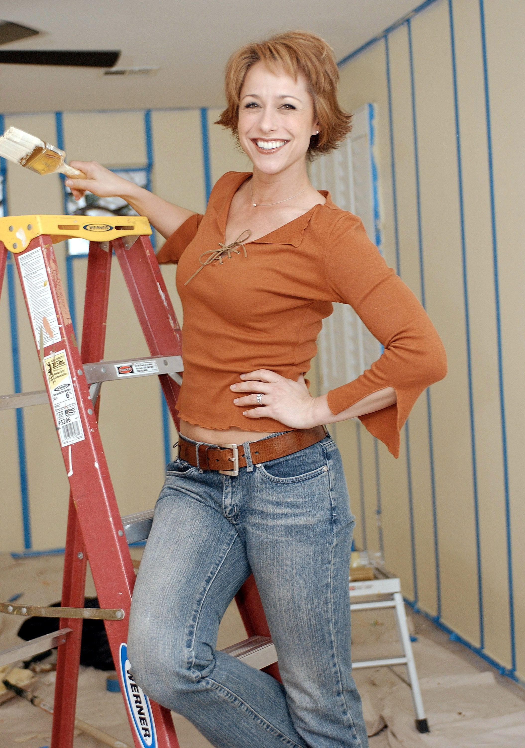 Paige Davis, host of TLC's 'Trading Spaces' in which neighbors switch homes for 48 hours and redocorate a room in each other's home with help from the show's host, designers and carpenters. (Photo by Bob Riha Jr/WireImage)
