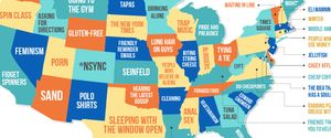 WHAT EACH STATE HATES MAP