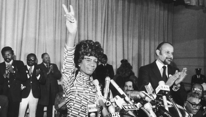 US Representative Shirley Chisholm announces her entry for Democratic nomination for the presidency in New York on January 25