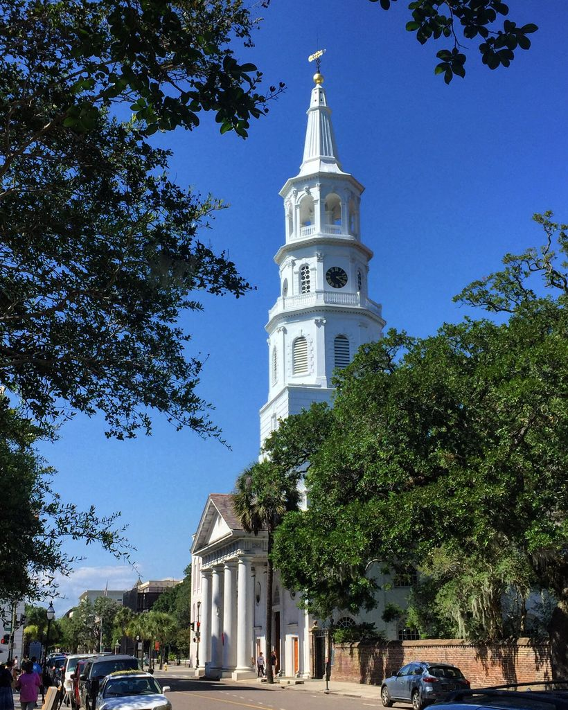 "Charleston was founded as a free religion city.  Today there are 100 church steeples around town — the reason it is called ""T"