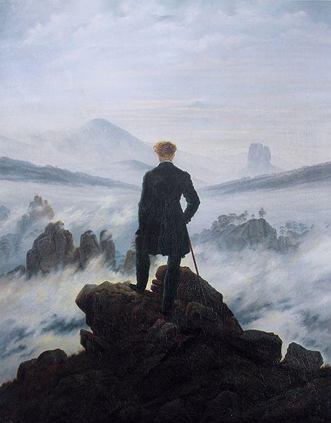 Caspar David Friedrich's <em>Wanderer above the Sea of Fog, </em>1817