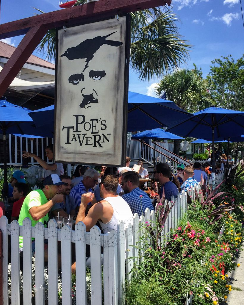 Edgar Allen Poe was a soldier at Fort Moultrie in 1837, but he served under an assumed name.   Poe's Tavern is a great place