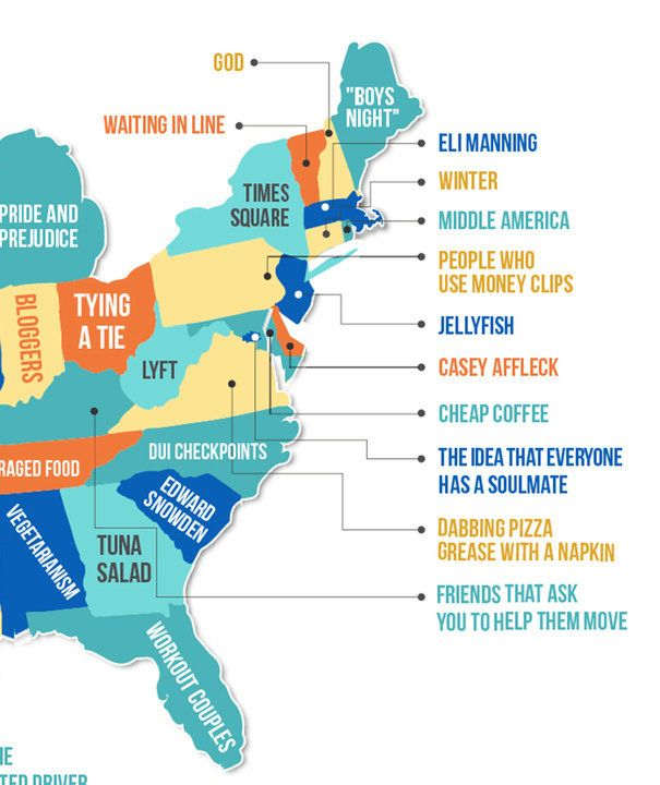 This Map Shows What People Hate The Most In Each State HuffPost - Us checkpoints map
