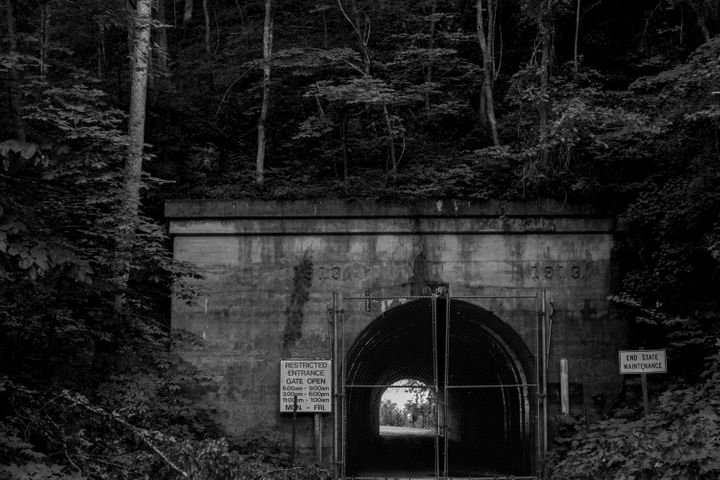A tunnel dating back to 1913 acts as one of the entrances to the Radford Army Ammunition Plant.