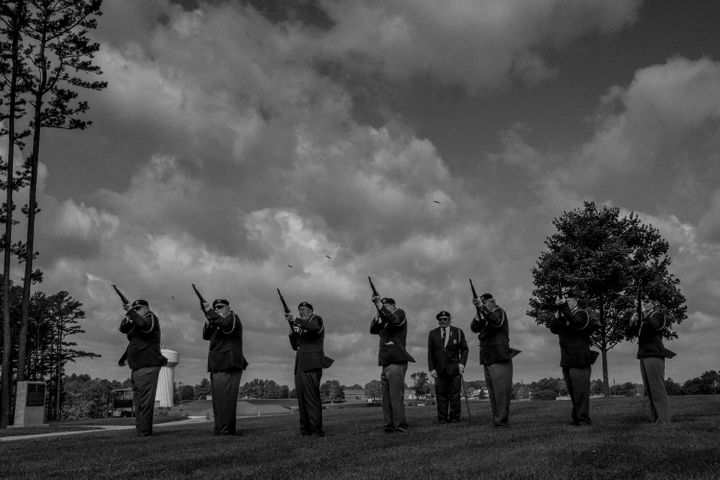 American Legion members perform a salute on Memorial Day last May at the Southwest Virginia Veterans Cemetery. The people of