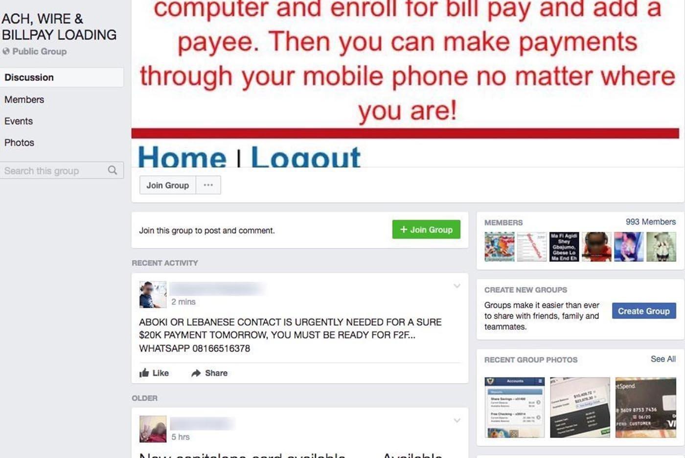 Internet dating scammer list