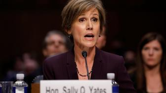 Former Acting Attorney General Sally Yates testifies about potential Russian interference in the presidential election before the Senate Judiciary Committee on Capitol Hill, Washington, D.C., U.S. May 8, 2017.  REUTERS/Aaron P. Bernstein