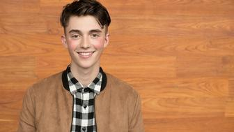 LOS ANGELES, CA - MAY 13:  Greyson Chance poses for a portrait at his album release party for 'Somewhere Over My Head' at YouTube Space LA on May 13, 2016 in Los Angeles, California.  (Photo by Gabriel Olsen/FilmMagic)