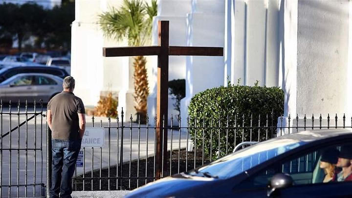 Nine people were killed in a 2015 shooting at Emanuel AME Church in Charleston, South Carolina. Police departments across the