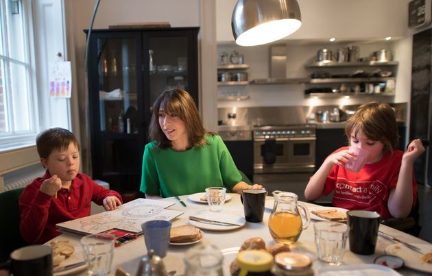Samantha Cameron hosted a breakfast reception in the 11 Downing Street flat in