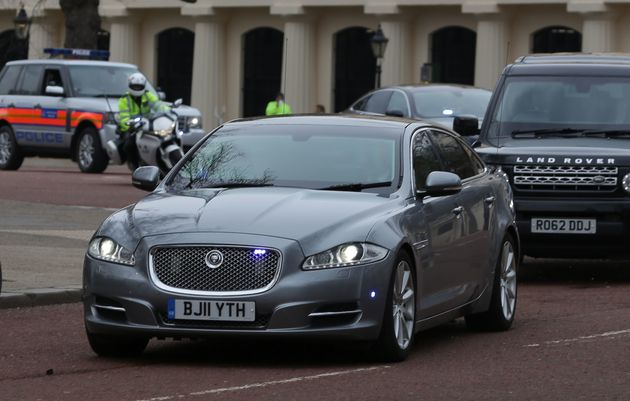 The Jaguar car of the British prime minister Theresa May would cost thousands to run
