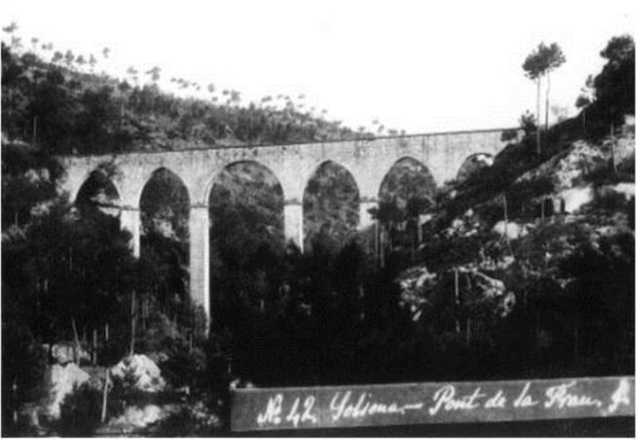 Pont de la Frau, Solsona County in Central Catalonia, in northwestern Spain, in the mid-1900s.